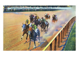 Saratoga Springs  New York - Home Stretch on the Track