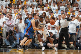 Oklahoma City Thunder v Memphis Grizzlies - Game Four  Memphis  TN - MAY 9: Zach Randolph and Nick