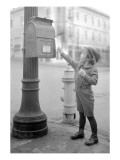 Boy Mailing Letter  Early 1900s