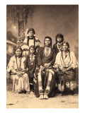 Chief Joseph and Family Members  Circa 1877