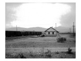 The Great Northern Railway Depot in Omak  WA  1914