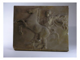 Relief Fragment Depicts A Figure with A Horse  A Copy of A Frieze In the Classical Greek Style