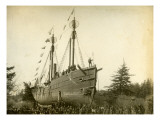 Lightship Beached at McKenzie Head  1899-1901
