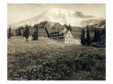 Paradise Inn and Mount Rainier  1916