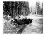 Auto Fording Clear Creek  Yakima  1918