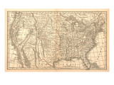 United States Map  1849