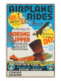 """Airplane Rides: Featuring the Boeing Clipper  America's Largest Trimotor""  1929"