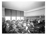 University Class at Board with Music Studies  1905