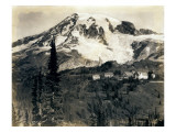Mount Rainier with Paradise Inn in Foreground  1922