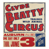"""Clyde Beatty Trained Wild Animal Circus""  1935"
