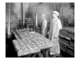 Two Cannery Workers at Apex Fish Co  Anacortes  WA  Circa 1913