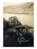 Petroglyphs at Buffalo Rock on the Snake River  Circa 1939