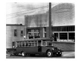 Tacoma Bus Company Office and Bus  1927