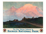 The New Yakima Gateway to Rainier National Park Poster  Circa 1925
