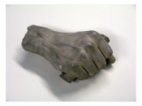 Plaster Copy of Lincoln's Hand By James A Wehn  of Original By Leonard Wells Volk