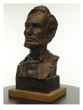 Bronze Bust of US President Abraham Lincoln
