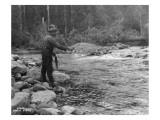 Fishing on the Elwha  Olympic Peninsula  Undated