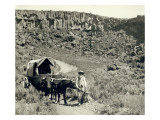 Ezra Meeker with Wagon
