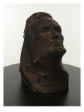 Bust of Abraham Lincoln Made of Plaster and Painted to Look Patinated