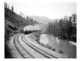 Northern Pacific Train in Yakima Canyon  1915