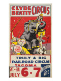 &quot;Clyde Beatty Circus; Truly Big Railroad Circus&quot;  1935