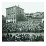 World Series Crowd Watches Scoreboard  1926