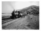 Great Northern Railway Steam Locomotive No 971 at Entiat  Chelan County  WA  1914