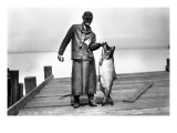 Cannery Worker with Salmon  Circa 1909
