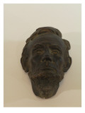 Small Mask of Abraham Lincoln is Made of Plaster and Painted to Look Patinated