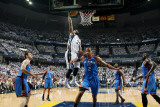 Oklahoma City Thunder v Memphis Grizzlies - Game Six  Memphis  TN - MAY 13: OJ Mayo and Thabo Sef