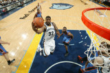 Oklahoma City Thunder v Memphis Grizzlies - Game Six  Memphis  TN - MAY 13: OJ Mayo  James Harden