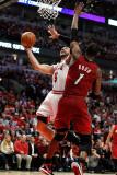 Miami Heat v Chicago Bulls - Game Two  Chicago  IL - MAY 18: Carlos Boozer and Chris Bosh