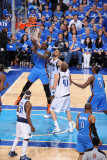 Oklahoma City Thunder v Dallas Mavericks - Game One  Dallas  TX - MAY 17: Kendrick Perkins and Tyso