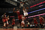 Miami Heat v Chicago Bulls - Game Two  Chicago  IL - MAY 18: Derrick Rose and Chris Bosh