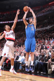 Dallas Mavericks v Portland Trail Blazers - Game Three  Portland  OR - APRIL 21: Peja Stojakovic an