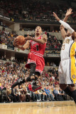 Chicago Bulls v Indiana Pacers - Game Three  Indianapolis  IN - APRIL 21: Derrick Rose and Danny Gr