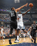 San Antonio Spurs v Memphis Grizzlies - Game Six  Memphis  TN - APRIL 29: Zach Randolph and Tim Dun