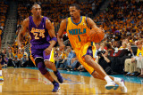 Los Angeles Lakers v New Orleans Hornets - Game Three  New Orleans  LA - APRIL 22: Trevor Ariza and