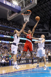 Portland Trail Blazers v Dallas Mavericks - Game One  Dallas  TX - APRIL 16: Andre Miller  Dirk Now