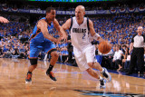 Oklahoma City Thunder v Dallas Mavericks - Game One  Dallas  TX - MAY 17: Jason Kidd and Thabo Sefo
