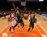 Boston Celtics v New York Knicks - Game Three  New York  NY - APRIL 22: Rajon Rondo and Jared Jeffr