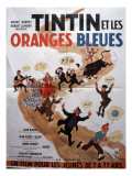 Movie Poster: Tintin et Les Oranges Bleues  1964