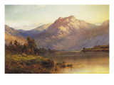 A View of Benmore at Sunset