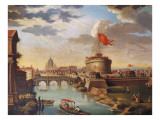St Peter's Basilica and Castle Sant'Angelo in Rome