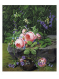 Still Life with Roses and Bluebells