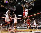 Chicago Bulls v Miami Heat - Game Four  Miami  FL - MAY 24: Derrick Rose  Joel Anthony  LeBron Jame