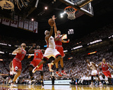 Chicago Bulls v Miami Heat - Game Four  Miami  FL - MAY 24: LeBron James  Joakim Noah  Luol Deng  C