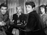 Andréa Parisy  Jean-Paul Belmondo  Dany Saval and Jacques Portet: Les Tricheurs  1958