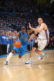 Dallas Mavericks v Oklahoma City Thunder - Game Three  Oklahoma City  OK - MAY 21: Jason Terry and