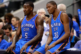 Oklahoma City Thunder v Dallas Mavericks - Game Two  Dallas  TX - MAY 19: Kendrick Perkins and Kevi